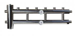 Гидрострелка с коллектором из нержавеющей стали 3+1 контур 60/85 квт
