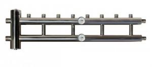 Гидрострелка с коллектором из нержавеющей стали 4+1 контур 60/85 кВт